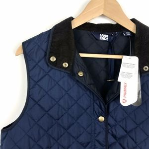 Lands End Navy Blue Quilted Primaloft Vest